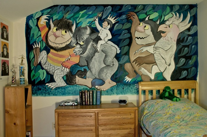 Where the Wild Things Are Mural Elijah Kennedy
