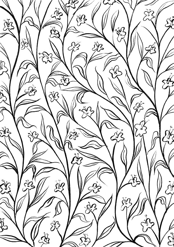 Pretty Patterns Colouring Book : Creative colouring for grown ups pretty patterns