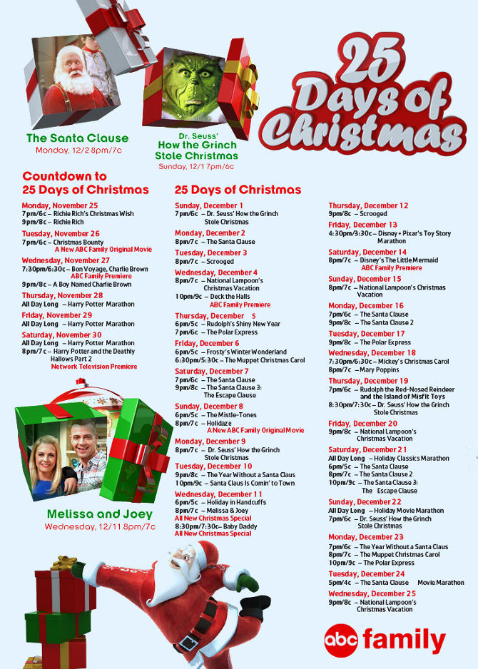 abc 25 days of christmas - Abc 25 Days Of Christmas